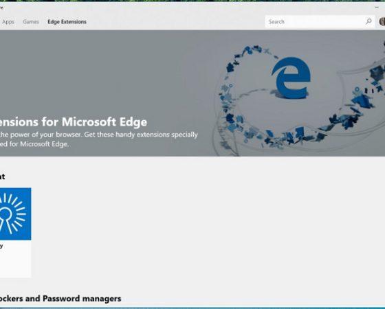 تب اختصاصی افزونههای اج در مایکروسافت استور ظاهر شد.
